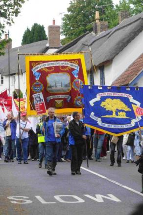 OUT IN FORCE: Last year's Tolpuddle Martyrs Festival and rally