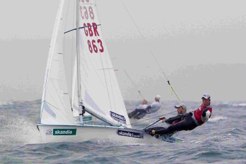 CONTENDERS: Portland's 470 men's sailors Luke Patience and Stuart Bithell in action