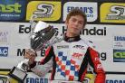 FIRST VICTORY: Weymouth's Sam Webster enjoys his first-ever MSA British Championship win in the KF2 Super One Series