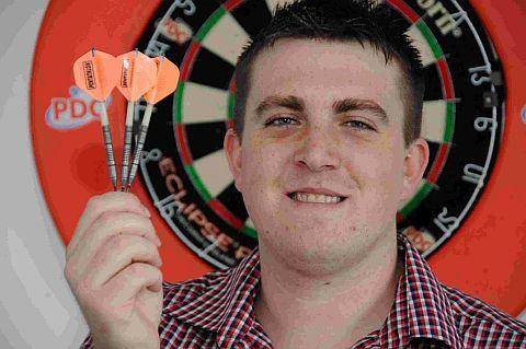 FRUSTRATED: Dorcheser's Ben Ward on the oche