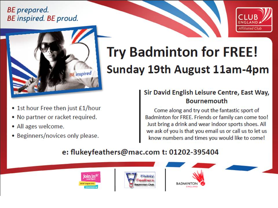 Try Badminton for FREE