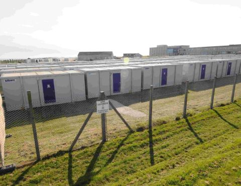 Portland police park mix-up: Temporary officers' accomodation erected without planning permission