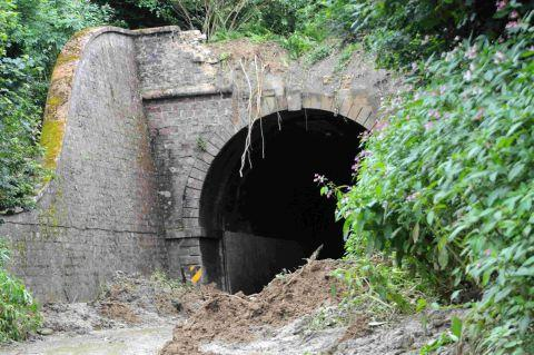 The landslip at Beaminster Tunnel