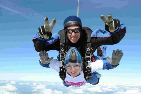 PLUNGE: Emma Waterman on her charity skydive