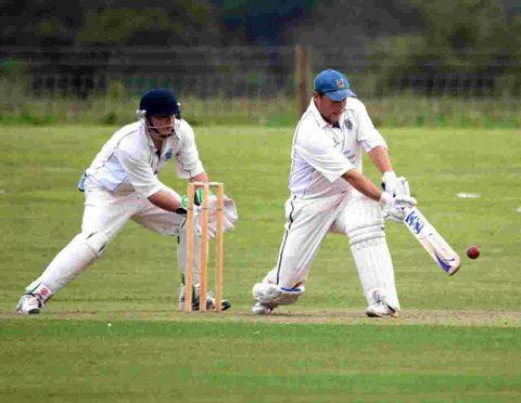 BIG BEN: Ben Lawes hits out at The Leaze on his way to his 55