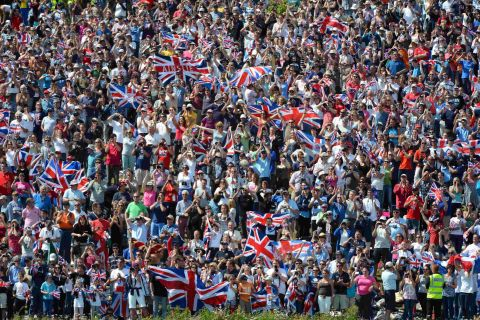 BIG CHEER: Crowds at the Nothe supporting Ben Ainslie