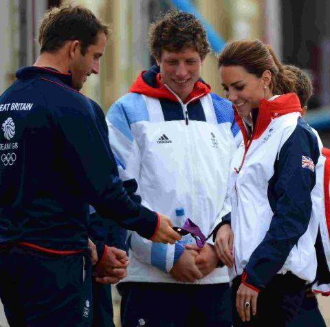 Duchess of Cambridge with Ben Ainslie