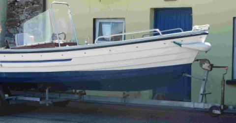 The  boat stolen from outside a house in Iwerne Minster
