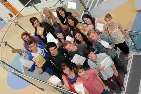 GREAT RESULTS: Top performing A-level students at Budmouth College