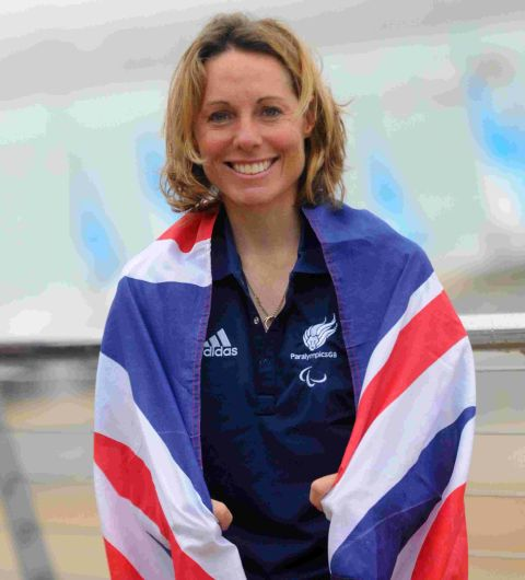 VOW: Paralympic sailor Helena Lucas is aiming to win a medal