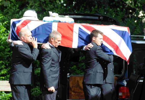 The funeral of Richard Lees