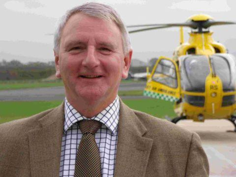 AIRLIFT: Bill Sivewright with the Dorset and Somerset Air Ambulance