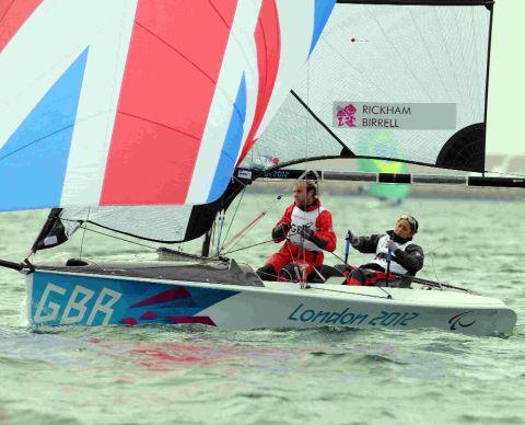 SAILING AHEAD:  Niki Birrell and Alex Rickham