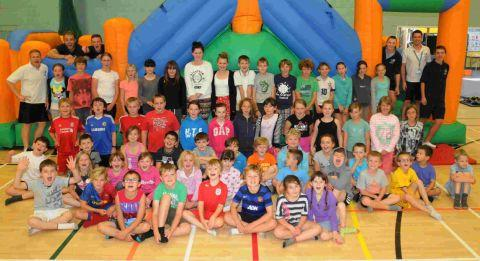 HOLIDAY FUN: Budmouth Community Sports Centre's children's holiday sports club