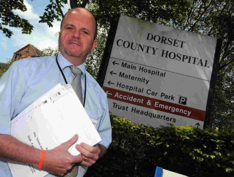 MONEY WORRIES: DCH employee Martin Shepherd who is concerned about a shift to NHS regional