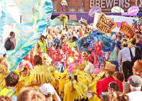 COLOURFUL: The Moving Tides children's procession