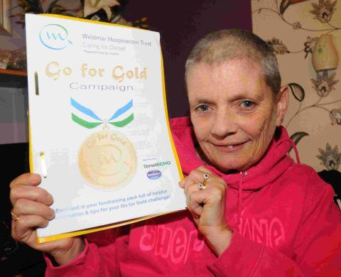 Sheree Tebbutt is taking part in Go for Gold Weldmar fundraising campaign
