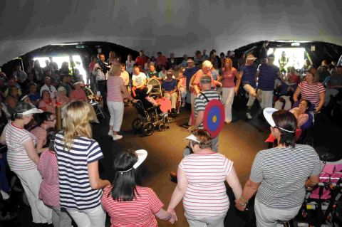 ACTION-PACKED: Disabled adults bringing to life the best bits of the 2012 summer games with music and dance at the ICCI630 Dome	HG9959