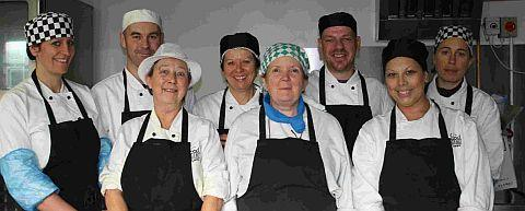 LUNCH IS ON US: Staff at Food Links in Bridport