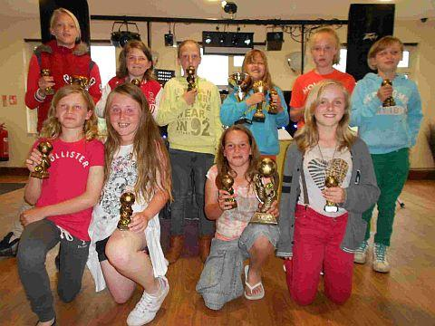 ANGELS DELIGHT: Southside Angels with their awards