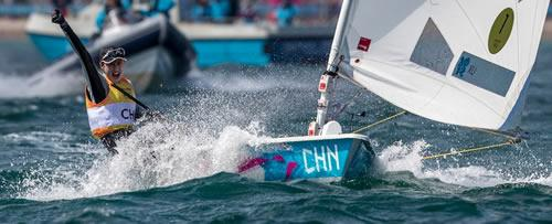 Lijia Xu winning Olympic Gold in the Radial class