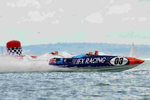 Weymouth Bay is hosting powerboat and jetski racing this weekend