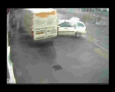 FLASHPOINT: Vincent Lockett's attack on the van is captured on CCTV