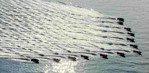 WATER SHOW: More than 90 vessels on Olympic mission