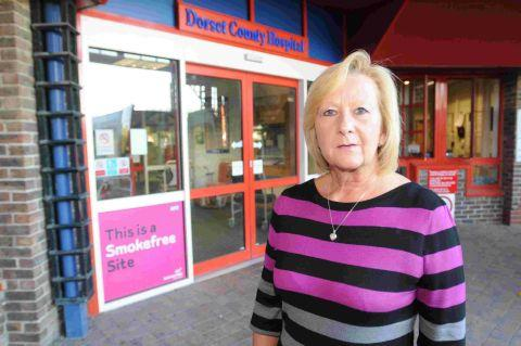 STUB IT OUT: Elaine Cheeseman at Dorset County Hospital