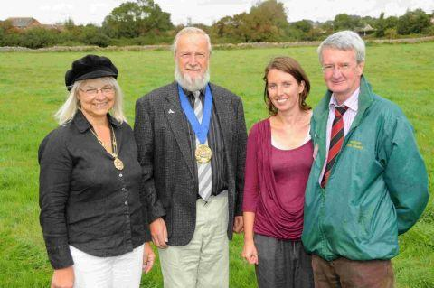 revamp: Anne Rickard, mayor Dave Rickard, Emma Parkinson and Daryl Chambers at Asker Meadows