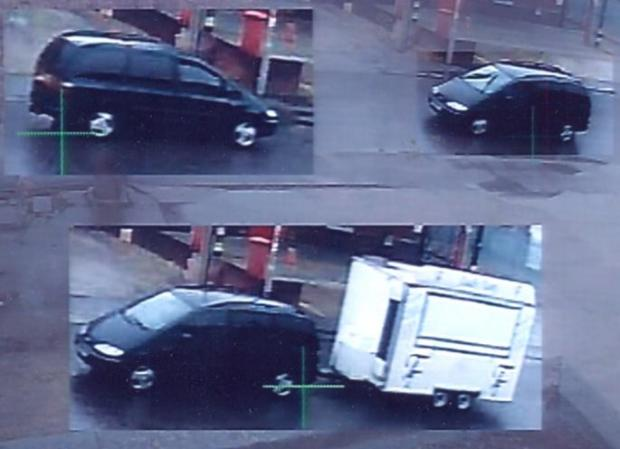 CCTV footage of the incident at the Butts Pond Industrial Estate in Sturminster Newton