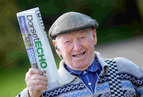 ON HIS ROUND: Oldest paper boy Ted Ingram