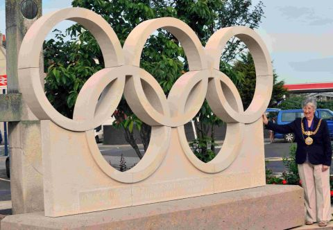 NEW HOME: The Olympic rings will stay in Portland