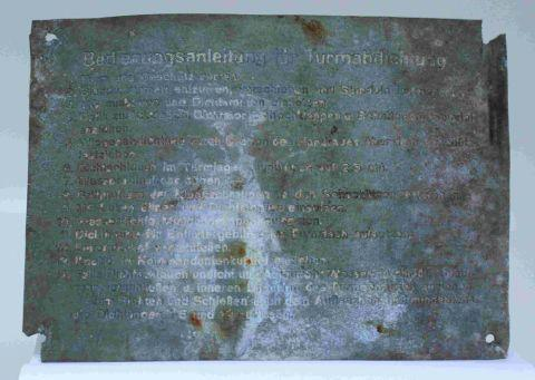 Dorset Echo: TANKS FOR THE MEMORIES: The newly returned stolen plaque, taken from a German Tiger Tank