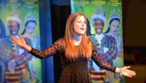 THIS IS MY SONG: Sophie Easthope performs at the auditions for the Christmas pantomine Jack and the Beanstalk at the Weymouth Pavilion