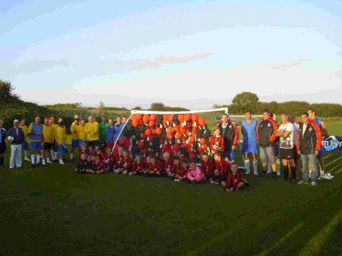 WHAT A TEAM: Milborne St Andrew celebrates 100 years of league football in the village