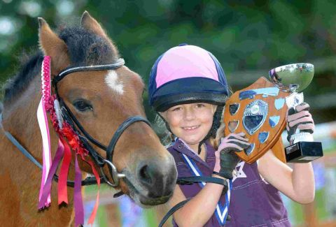 CHAMPION: Briony-Mai Green with her pony Crumble
