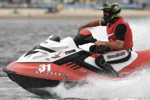 RANK OUTSIDER: Watersports enthusiast Daniel Bell competing in the P1 AquaX Championship