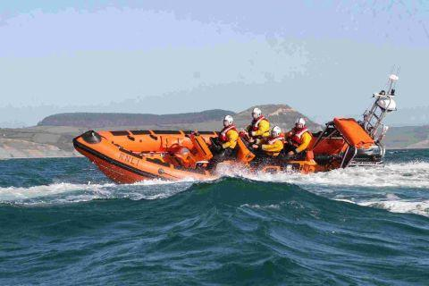 RECOVERED BODY: Lyme's lifeboat the Spirit of Loch Fyne