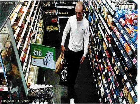 Dorset Echo: RAID APPEAL: A CCTV image of a man police want to speak too