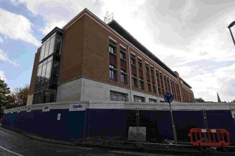 Dorset Echo: CONTROVERSIAL: Progress continues on the Charles Street development in Dorchester