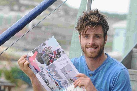 IN THE PICTURE: Olympic silver medallist Luke Patience with the new book