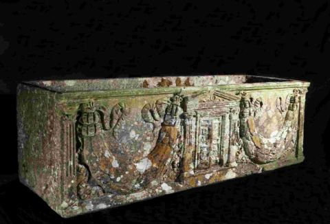 WHAT A FIND: The Roman sarcophagus found in a Dorset garden