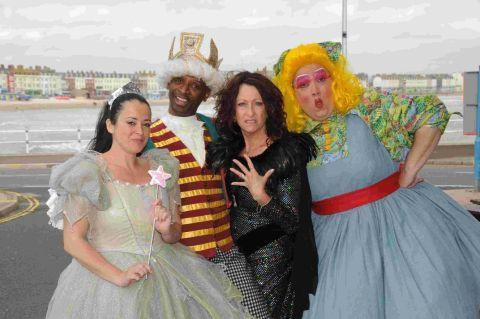 Dorset Echo: STARRING ROLE: The winner of panto factor at the Pavilion would join the cast of Jack and the Beanstalk at Weymouth Pavilion which includes Anna Kumble, Andy Abraham, Lynne McGranger and Danny Mills