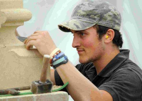 CHIPPING IN: Award-winning stonemason Tom Whitehead