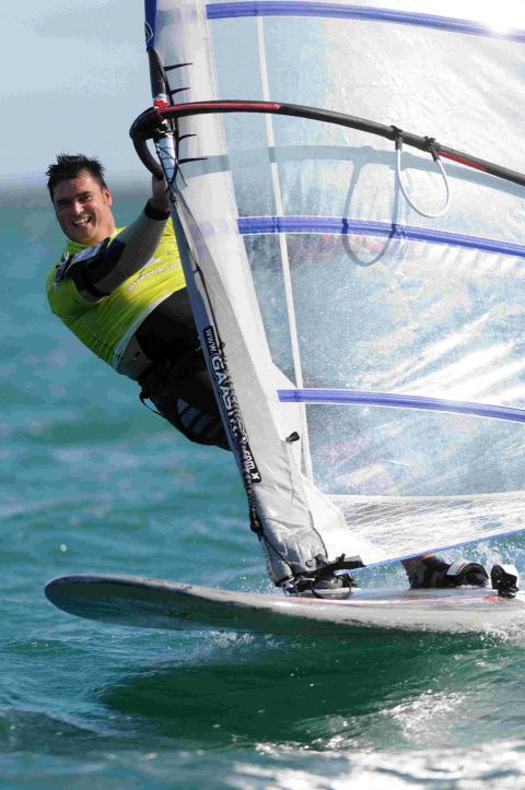 GONE WITH THE WIND: A Competitor in the Weymouth Speed Week
