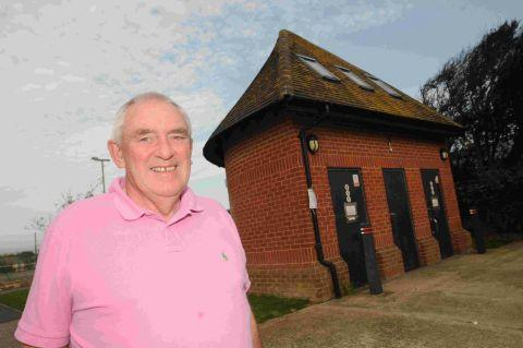 LADIES AND GENTLEMEN: Coun Geoff Petherick at the disused toilets on Portland Road which will be converted into a drop-in centre for youngsters