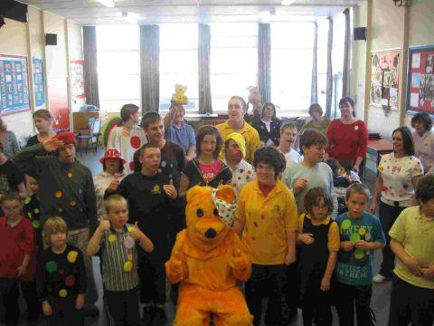 Dorset Echo: HAPPY MEMORIES: Mountjoy School raised £117 for children in need with a fancy dress and party afternoon