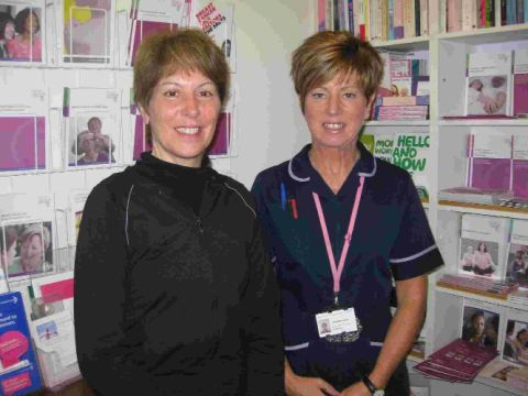HELPERS: Cancer exercise specialist Laura Spencer, left, and breast care specialist nurse Lorraine Sers