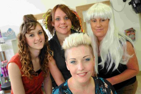 Dorchester Hair Studio staff members Becky Smith, Kim Rogers, Becci Greening and Rachel Cairns, front